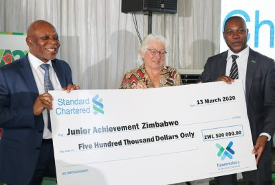 "JA Zimbabwe partners with Standard Chartered Zimbabwe in the ""Future Makers"" program."