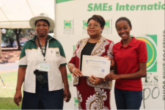 JA Zimbabwe honored with an award at the SMEs Expo